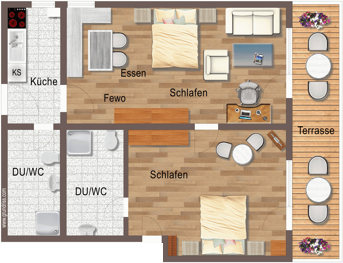 Groundplan Apartment Todtnauberg in Black Forest